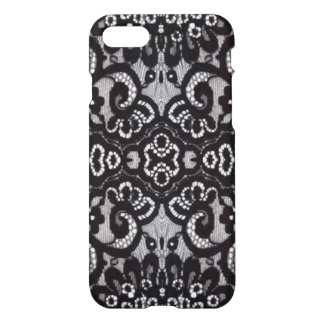 vintage girly black floral boho chic lace iPhone 7 case