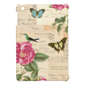 Vintage girly floral ipad case w/ bird and roses
