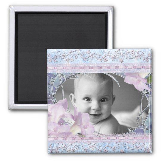 Vintage & Girly Frame Add Photo Magnet