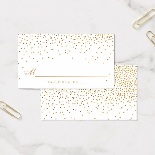 Vintage Glam Gold Confetti Wedding Escort Cards