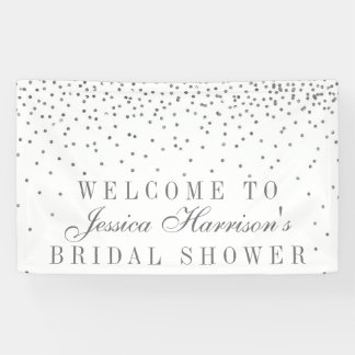 Vintage Glam Silver Confetti Bridal Shower