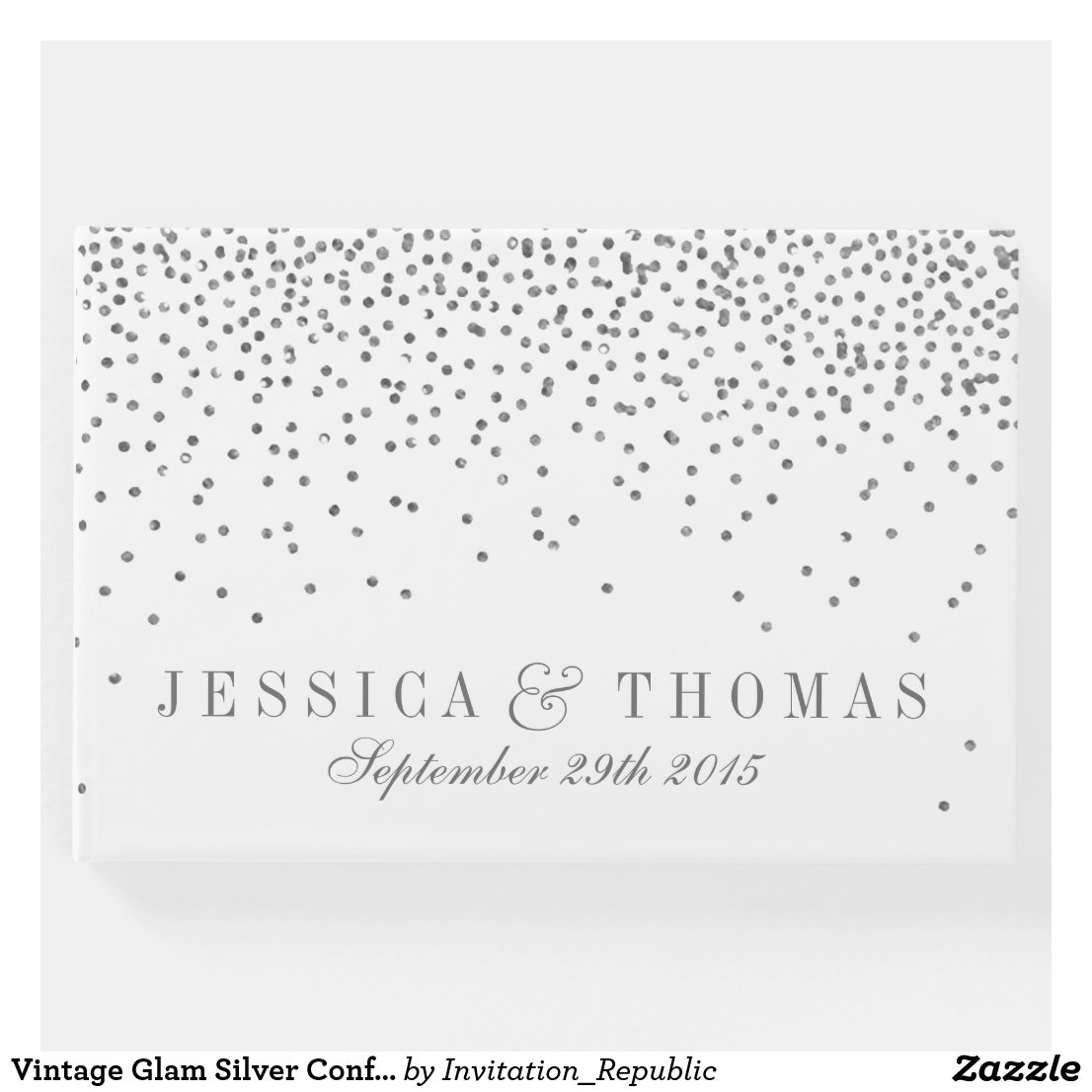 Vintage Glam Silver Confetti Wedding Collection