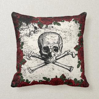 Vintage Glam Skeleton Rose Pillow