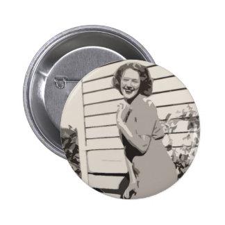 Vintage Glamour 6 Cm Round Badge