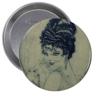 Vintage Glamour Pinback Button