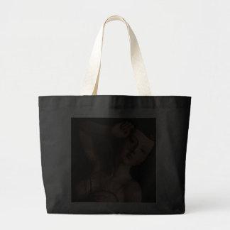 Vintage Glamour Girl Fashion Mannequin Black Canvas Bag