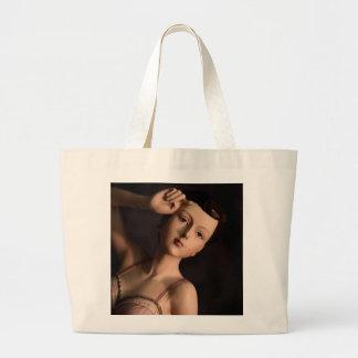 Vintage Glamour Girl Fashion Mannequin Jumbo Tote Bag