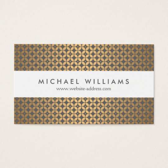 Vintage Glamour in Gold and Grey Designer Business Card