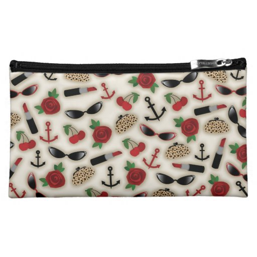 Vintage Glamour Inspired Cosmetics Bag Cosmetic Bag
