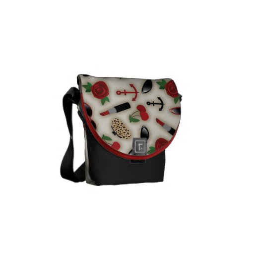 Vintage Glamour Inspired Mini Messenger Bag