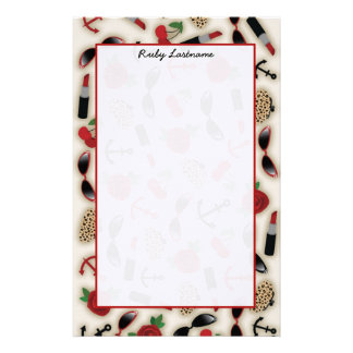 Vintage Glamour Inspired Personalized Stationery