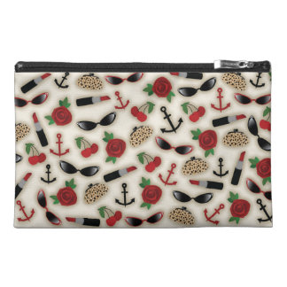 Vintage Glamour Inspired Travel Accessory Bag