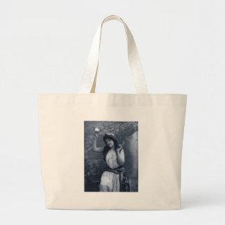 Vintage Glamour Portrait Jumbo Tote Bag