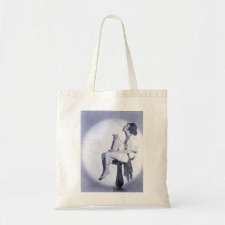 Vintage Glamour Portrait Budget Tote Bag