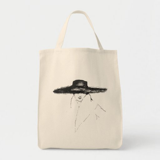Vintage Glamour Woman Canvas Bag