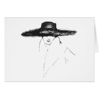 Vintage Glamour Woman Greeting Card