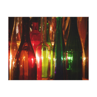 Vintage Glass Bottles Canvas Print