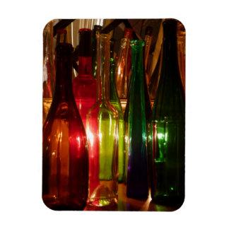Vintage Glass Bottles Rectangle Magnet