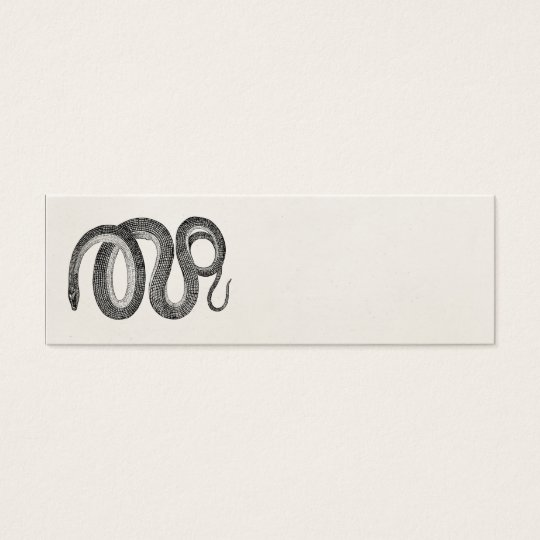Vintage Glass Snake - Reptile Template Blank Mini Business Card