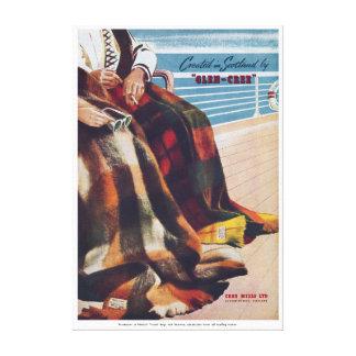 Vintage Glen Cree Scottish Plaid Tartan Blanket Canvas Print