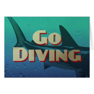 Vintage Go Diving Scuba Card