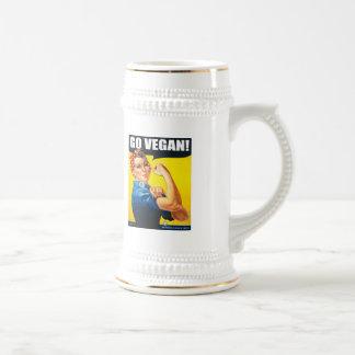 Vintage Go Vegan Beer Stein Mugs