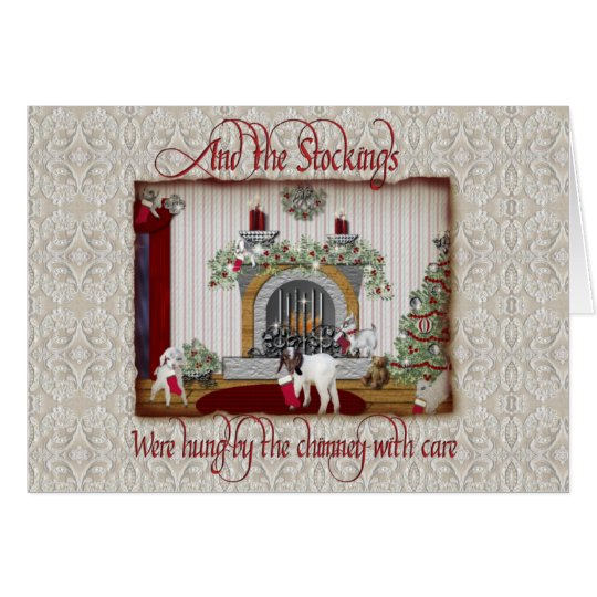 Vintage Goat Christmas Card