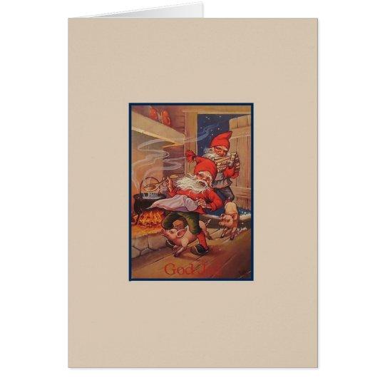 Vintage God Jul Christmas Card