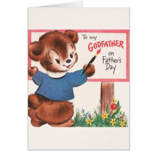 Vintage Godfather Father's Day Card