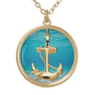 Vintage Gold Anchor Gold Plated Necklace