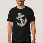 Vintage Gold Anchor, Men's Black T-Shirt