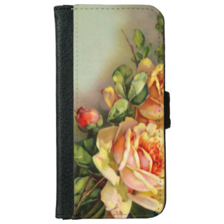 Vintage Gold and Blush Roses iPhone 6 Wallet Case