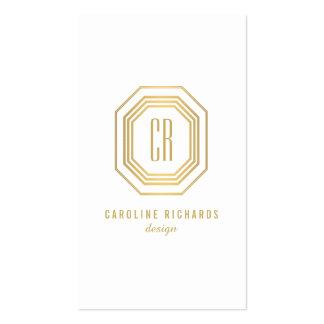Vintage Gold Art Deco Initials Monogram Pack Of Standard Business Cards