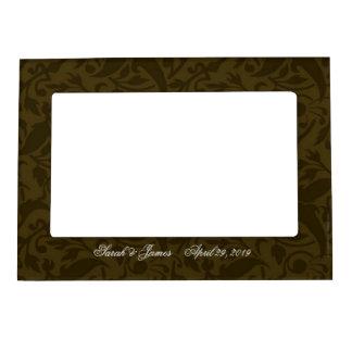 Vintage gold damask magnetic picture frames