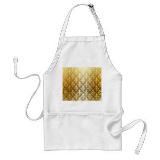 Vintage,gold,fleur de lis,antique,vintage,chic,fun standard apron