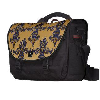 Vintage Gold Fleur de lis Laptop Bags