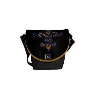 Vintage Gold Fleur de lis Messenger Bag