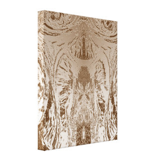 Vintage Gold Foil Art  - Special Occassions Stretched Canvas Print