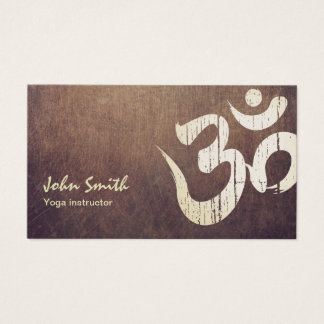 Vintage Gold Om Symbol Yoga Business Cards