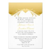 Vintage Gold Ornate Swirls Heart Post Wedding