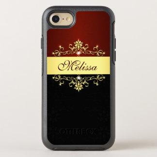 Vintage Gold Red Black Elegant Floral Victorian OtterBox Symmetry iPhone 7 Case