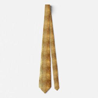 Vintage,gold,rustic,damasks,worn,floral,pattern,sh Tie
