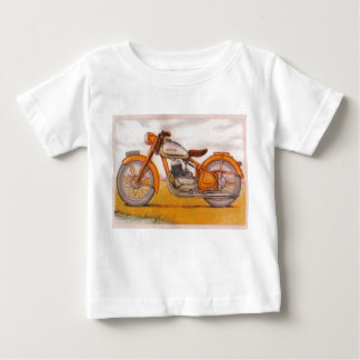 Vintage Gold Socovel Motorcycle Print Baby T-Shirt