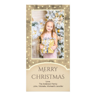 Vintage Gold Star with Photo Card