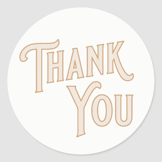 Vintage Gold Thank You Stickers