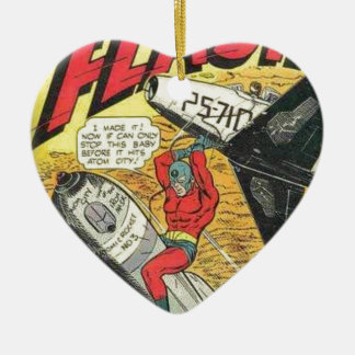 Vintage Golden Age Comic Book Ceramic Heart Decoration