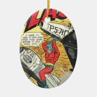 Vintage Golden Age Comic Book Ceramic Oval Decoration