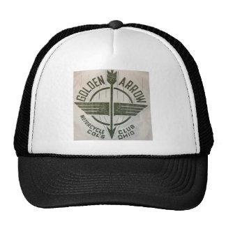 Vintage Golden Arrow Motorcycle Logo Trucker Hats