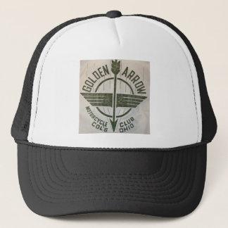 Vintage Golden Arrow Motorcycle Logo Trucker Hat
