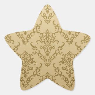 Vintage golden beige elegant victorian pattern stickers